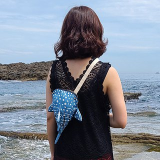 Design No.WS117a - 【Cotton Canvas】Whale Shark Shoulder Bags