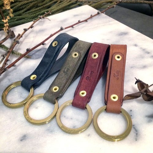 Cloud Spot Keychain - Four-color Leather Keychain