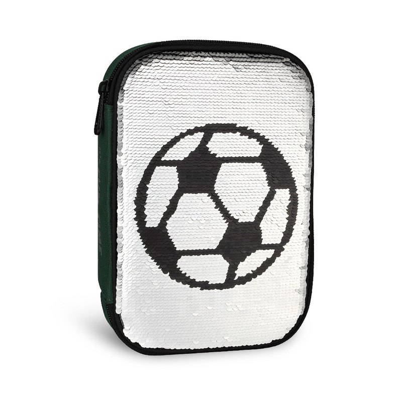 Tiger Family Fun Time Series Flip Color Sequin Storage Bag - Football Park
