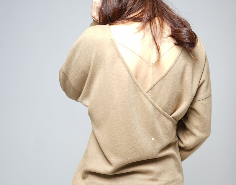 MIT positive and negative wool coat with detachable temperament pearl necklace camel stores