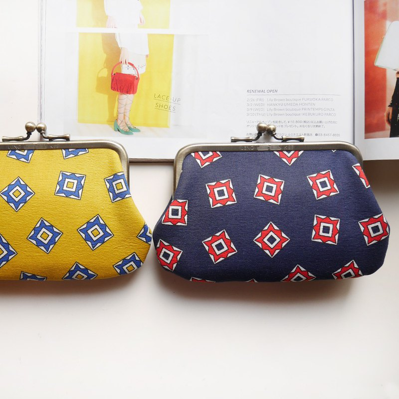 Blue darts gold buns mother bag / coin purse [made in Taiwan]