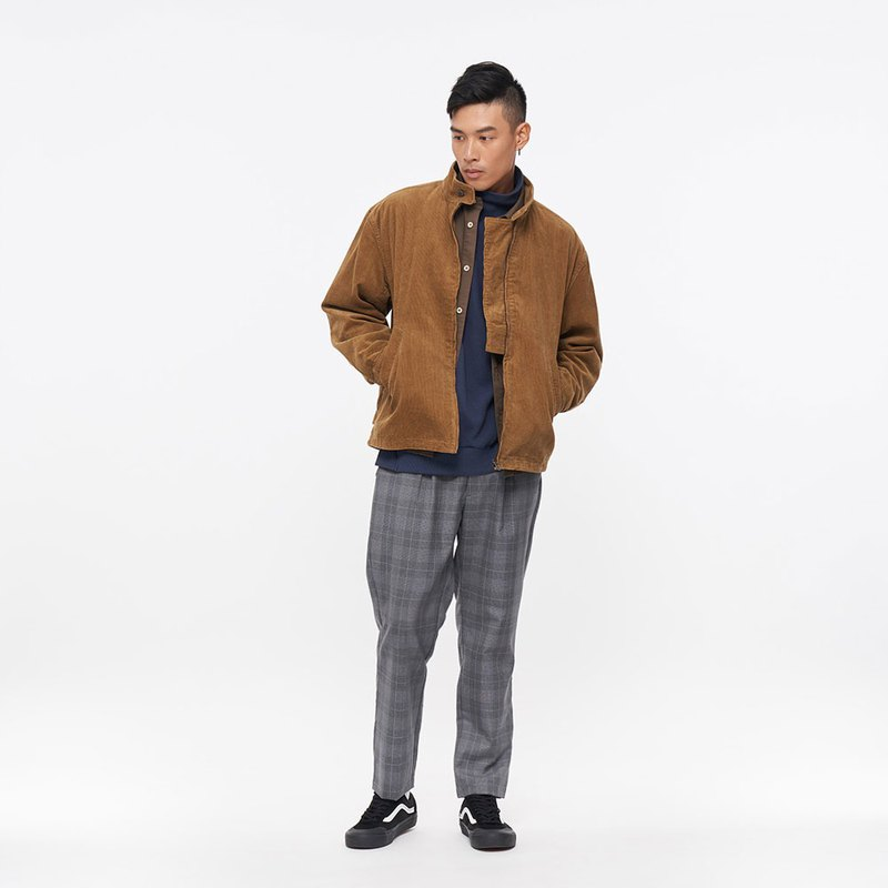 Corduroy jacket coat camel