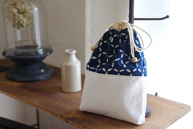 Also presents and gifts * Cloisonne Tsunagi pattern Indigo dyeing cotton * Shingen bag * North Europe tic