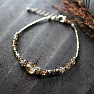 EF Crystal NO.2 Gold Phantom Corrugated Crystal White Copper Bracelet