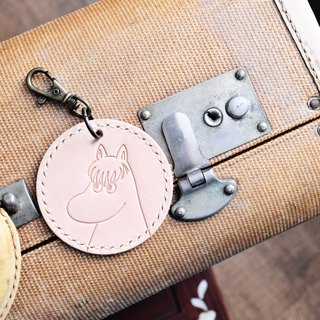 MOOMIN x Hong Kong-made leather Kone baggage tag key ring color leather material package officially authorized