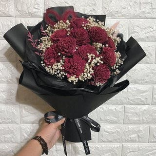 Big bunch of love wine red bouquet - limited post