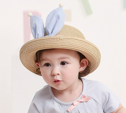 Happy Prince Benito baby bow-tie straw hat