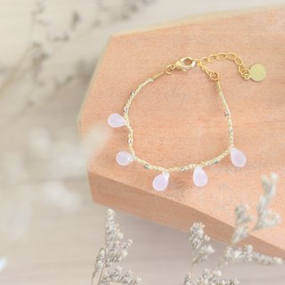 a beautiful handmade rose quartz bracelet by niyome craft