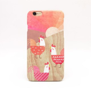Geometric Chicken / Rooster iPhone case