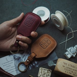 Honda Honda car key set Italy imported vegetable tanned leather pure hand-designed customized multi-color optional