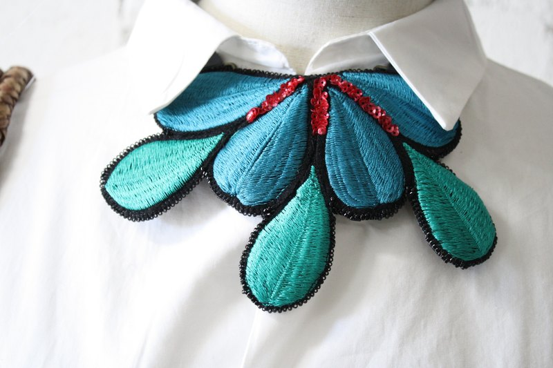 Embroidery necklace Embroidery Necklace