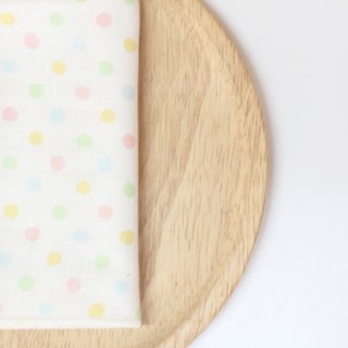 MaryWil towel series - beige dot 1 towel / handkerchief