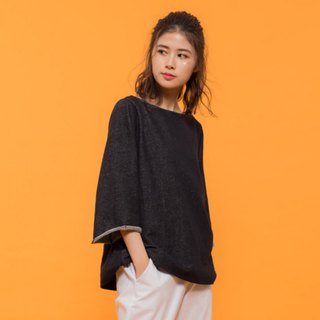 Ideal Life Wide Sleeve Top - Black