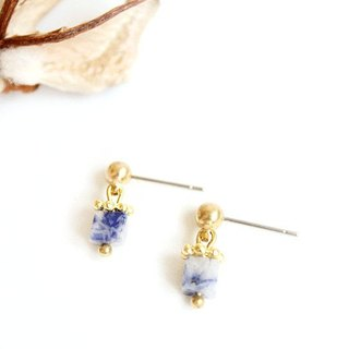 [Na UNA- excellent hand-made] Wen Shi Blue Sweetheart small box - steel pin brass natural stones Customized