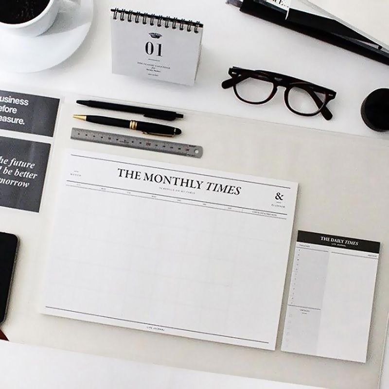 Seeso Monthly Times Monthly Plan Note Paper, SSO32319