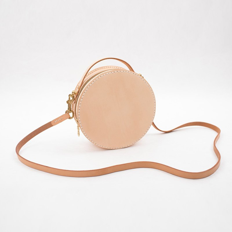 [Cut line] handmade small round leather handbags shoulder bag handbag small
