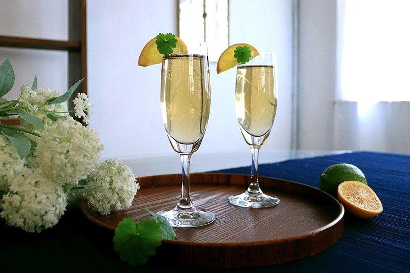 棲仙SECLUSION OF SAGE/欣欣玻璃行系列-手工斜紋汽泡香檳杯