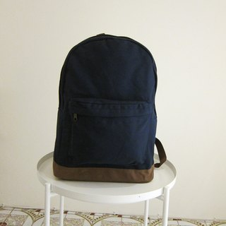 Goody bag canvas back pack canvas back pack - large (dark blue / cocoa)