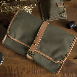 Travel wash storage bag / kit army green