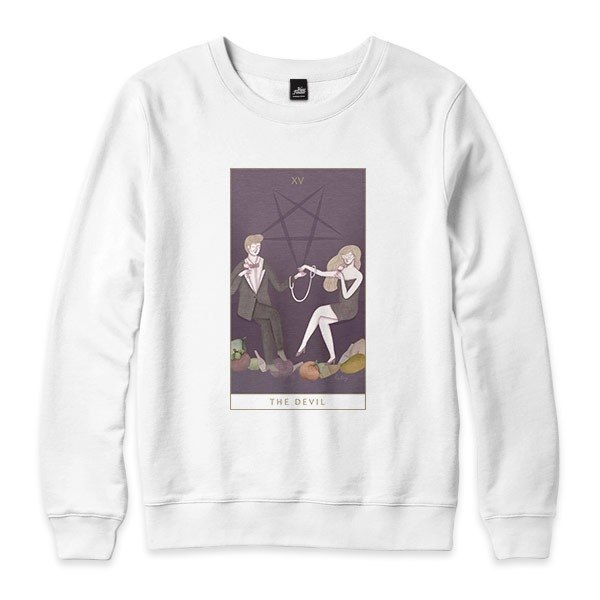 XV | The Devil - white - neutral version University T