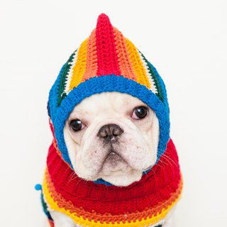 Gnarly warm headdress - Retro Rainbow