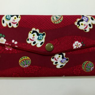 Lucky double red envelope bag / passbook storage bag (15 balls and cats)
