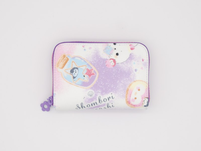 Play cloth hand made. Fantasy small sea lions Japanese currency change folder tarpaulin short clip wallet purse