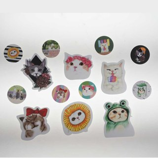 "Three cat shop ~ ""Corolla cat"" waterproof stickers"