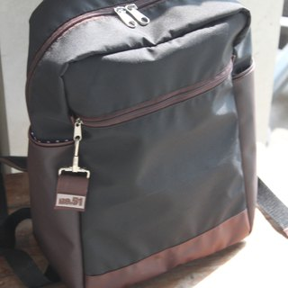 Black backpack, lightweight, classic, water repellent