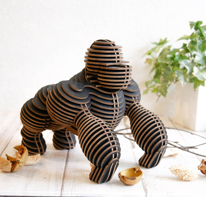 HUGO THE GORILLA/3D Craft Gift/