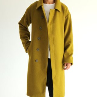 Jules Coat Olive Green Woolen Wool Coat (Other colors available)