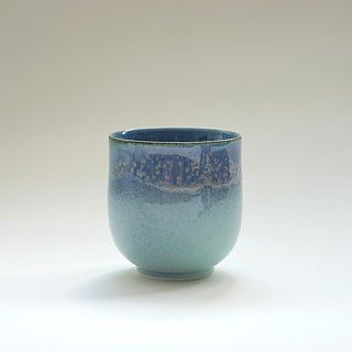 Flambe Glaze Cup-Sea Foam Blue