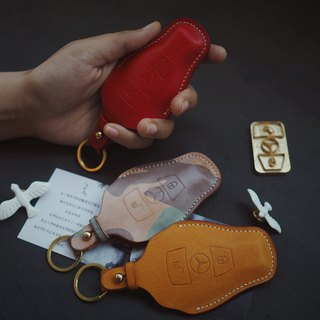 Mercedes-Benz Benz car key set Italy imported vegetable tanned leather handmade leather design customized