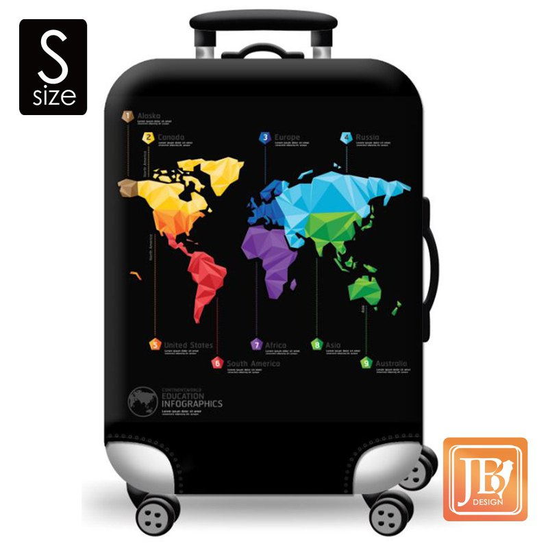 LittleChili Suitcase Set - World Map S+ World Map XL
