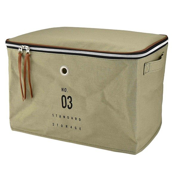 Basic Number- Large storage bag (khaki green)