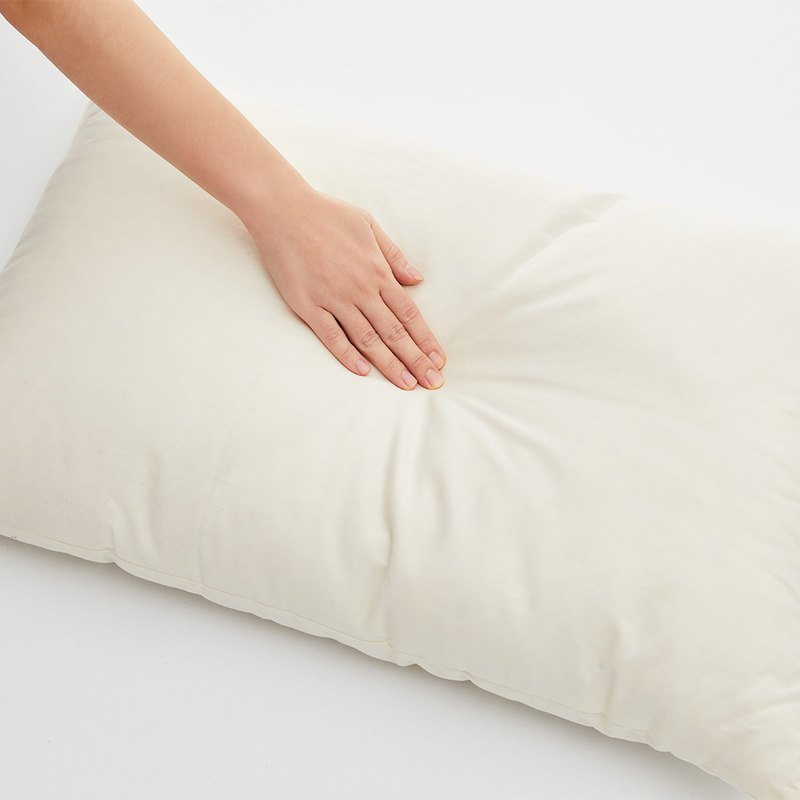Organic Cotton Pillow - Pure White