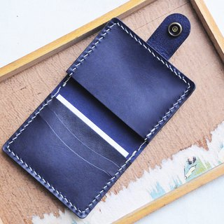 Half-fold 3 position 1 organ position business card holder well sewn leather material bag cover card cover Italy