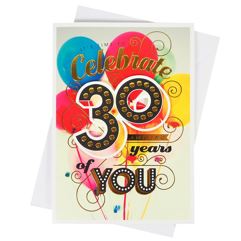 Wonderful 30th Birthday [Hallmark-Card Birthday Blessing]