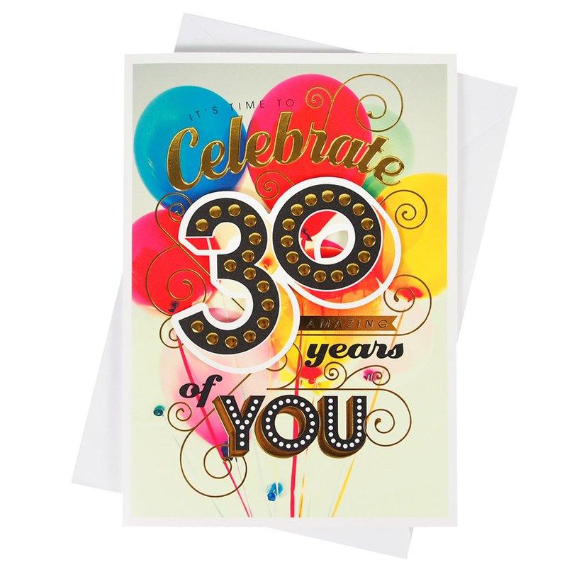 精彩的30歲生日【Hallmark-卡片 生日祝福】