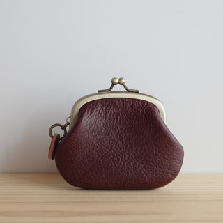 Italian leather coin purse coin chocolate