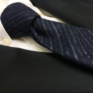 FINTES navy regimental tie stripes necktie col navy