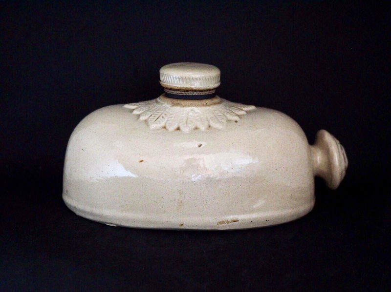 British antique pottery hot water thermos pottery collector series