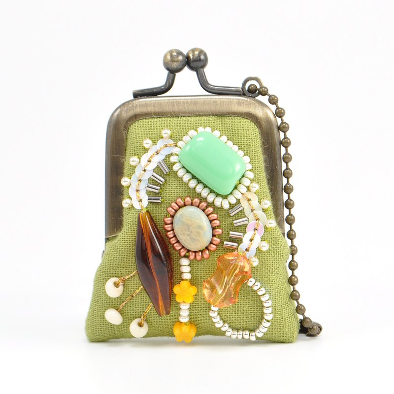 tiny purse for rings and pill,coins,accessories,bag charm purse green purse 56