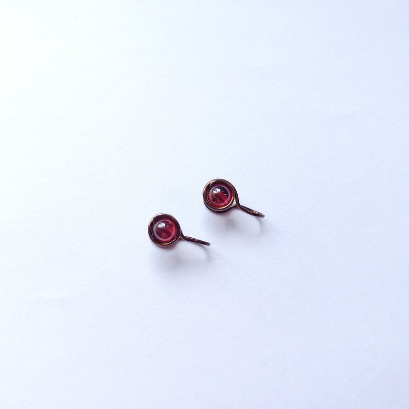 Garnet Painless Clip-on earring