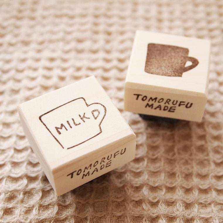 Hand made Stamp __ a cup of milk