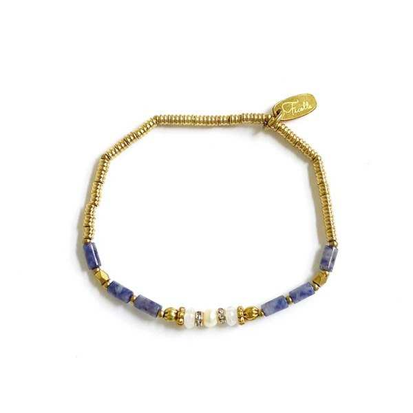 Ficelle | handmade brass natural stone bracelet | [stone] Coronation under the coronation ceremony