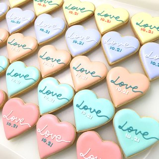 Macaron color LOVE love frosting biscuits 10 pieces (wedding small things)