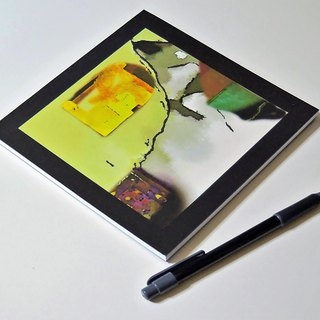 original design softcover notebook journal abstract in yellow minor