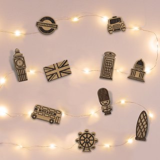 Travel around the world (UK) Star lights + modeling wooden clip
