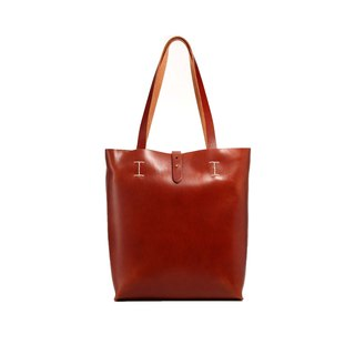[Tanned] La Fede - Original Series - Japanese vegetable tanned original tote bag - dark brown